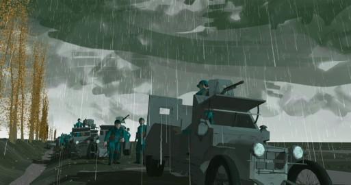 P - B Flanders Ieper, pantsers in modder
