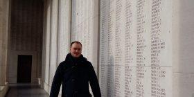 The Menin Gate Memorial to the Missing in Ypres, Belgium, Feb 2017